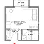 Godrej Ananda Bagalur KIADB Aerospace Park Studio Type B Floorplan